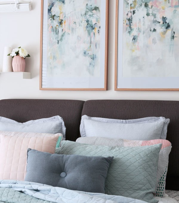 Sage-For-Days-abstract-art-prints-styled-in-scandi-bedroom-by-Kate-Fisher